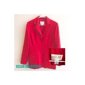 VTG Oscar De La Renta Red Blazer